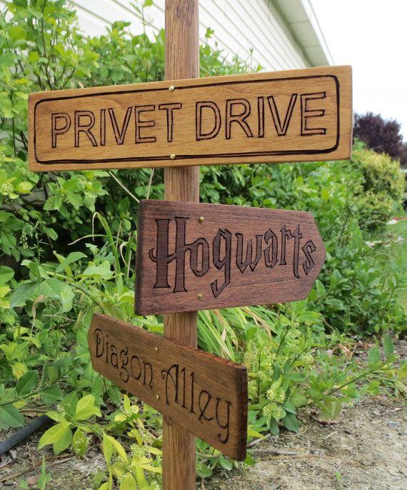 Harry Potter Garden Decor