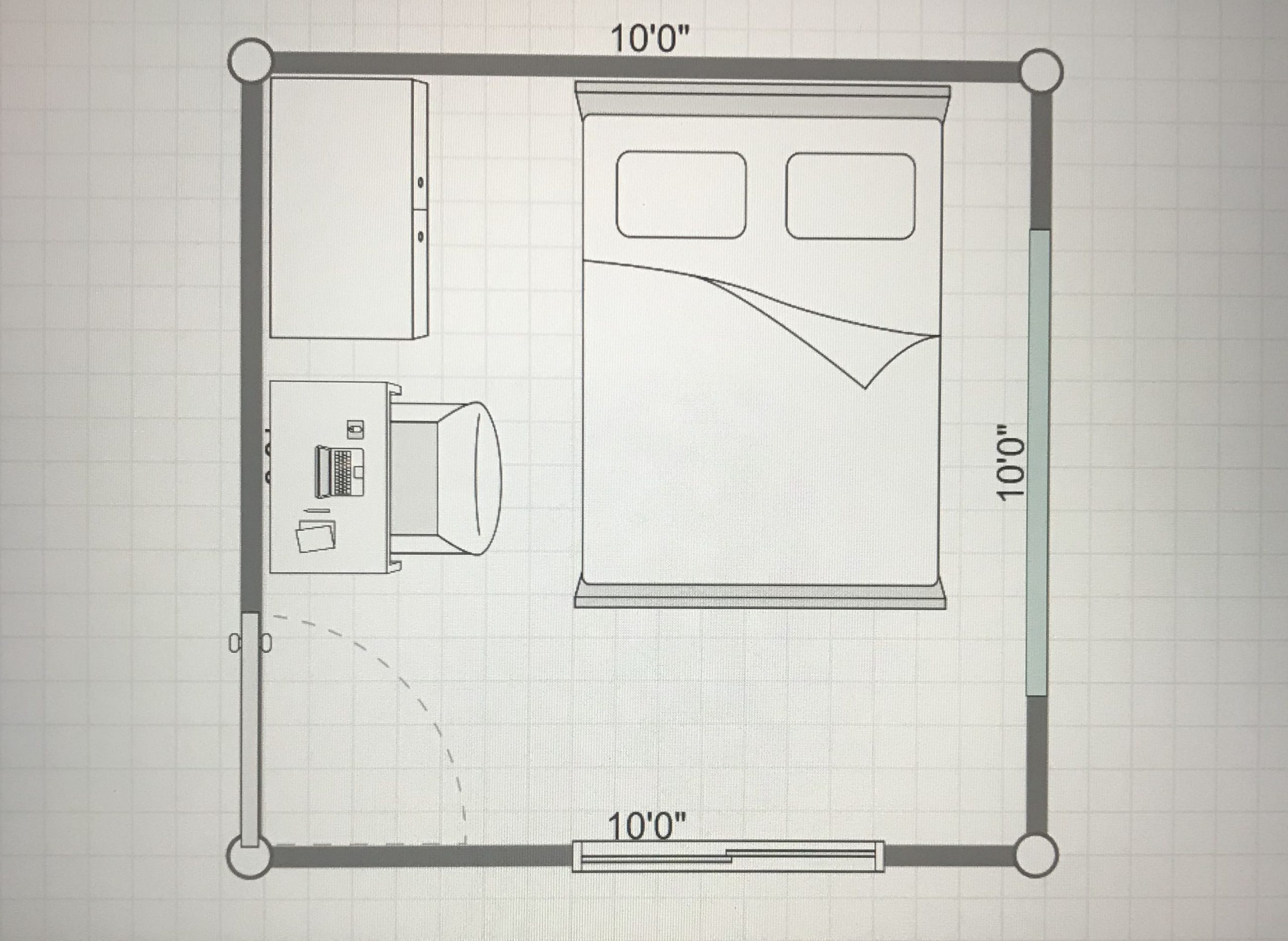 10x10 Bedroom Layout