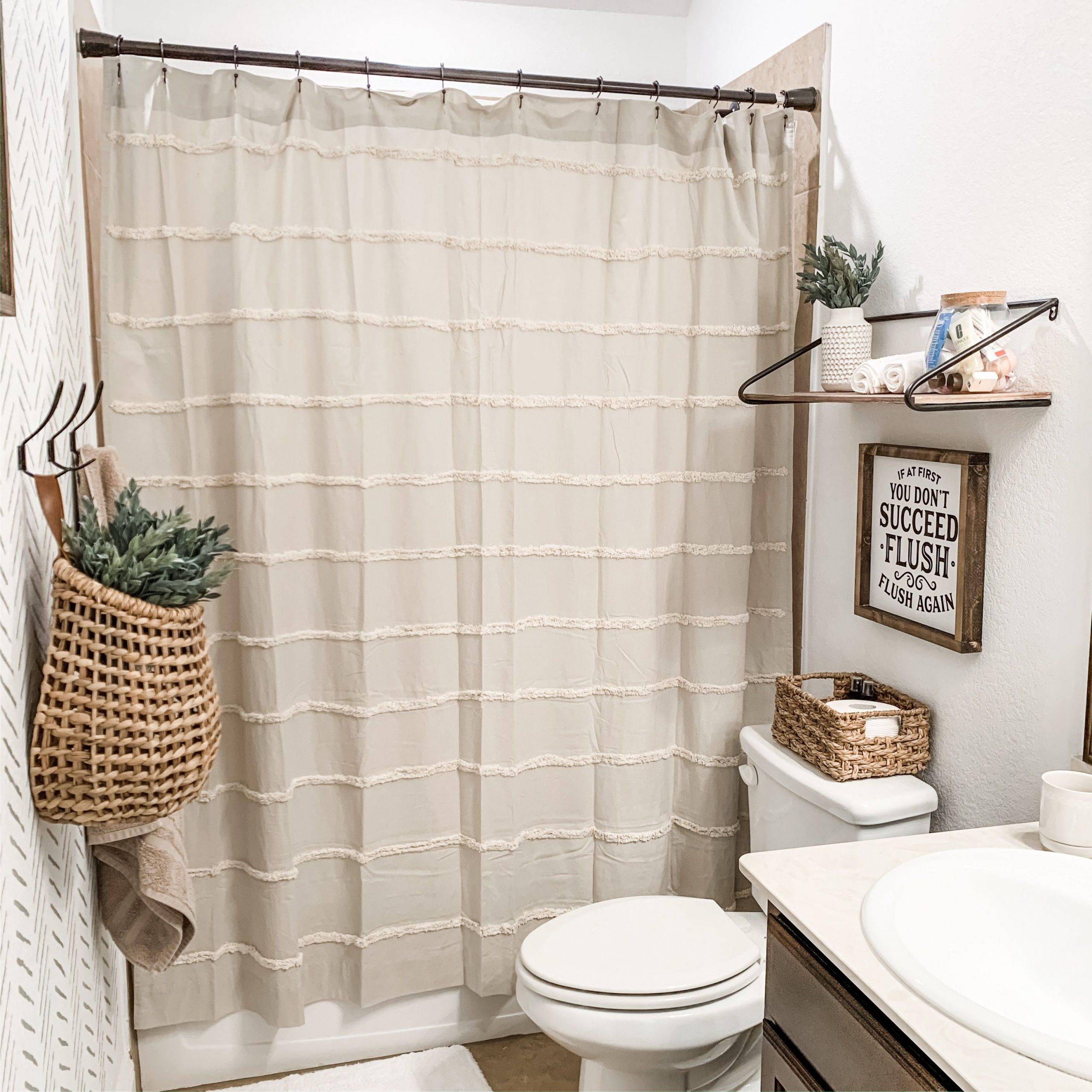 Farmhouse Bathroom Shower Curtain