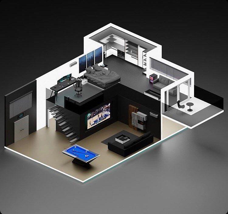 Modern Gaming Bedroom