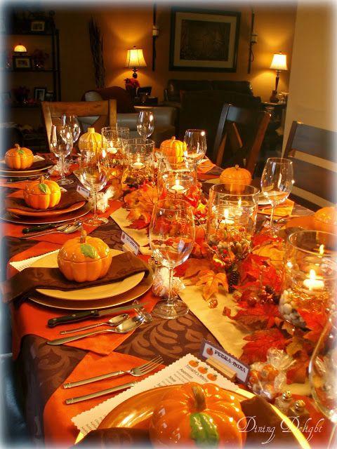 Fall Dinner Table Decor