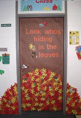 Fall Door Decorations Classroom