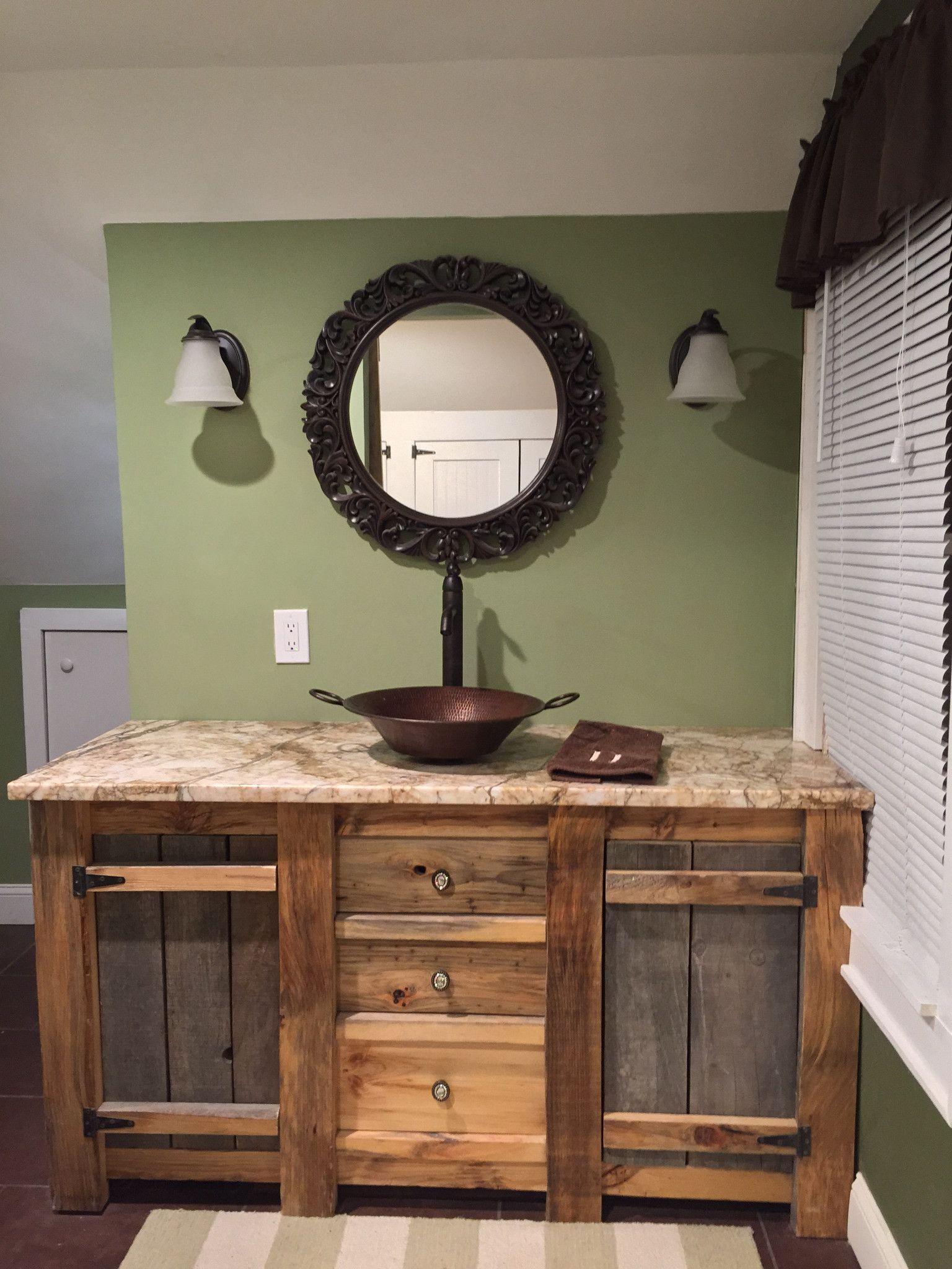 Barnwood Bathroom Vanity