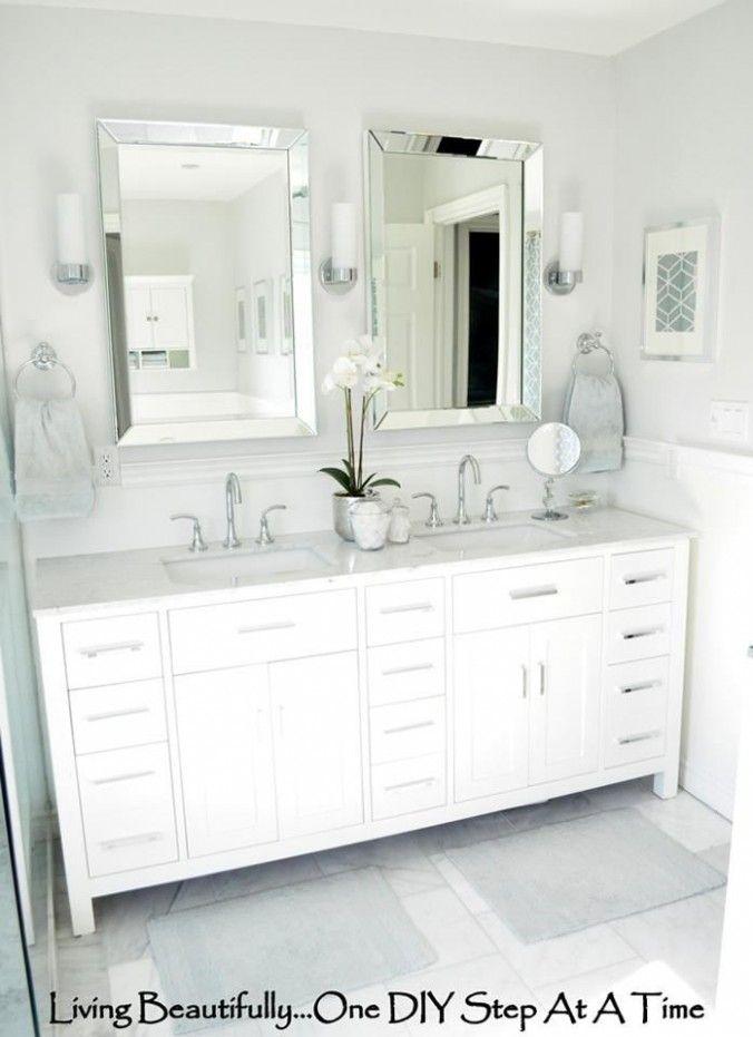 Double Vanity Bathroom Mirrors
