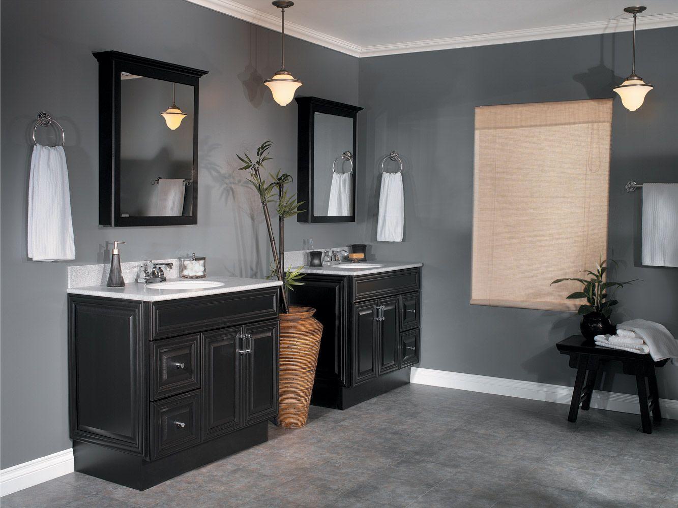 Black Cabinets Bathroom