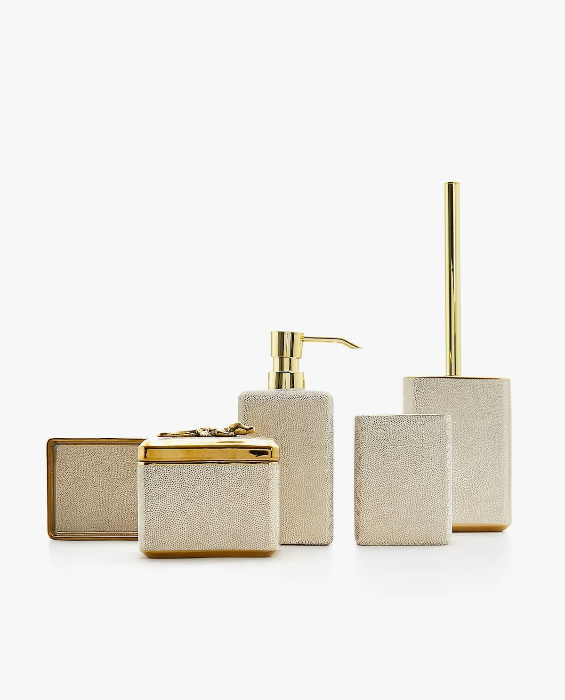 Gold Bathroom Accessories Set