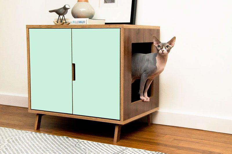 Modern Cat Litter Box Furniture