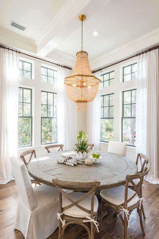 Farmhouse Round Kitchen Table