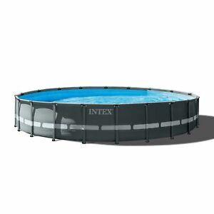 Intex Ultra Xtr Frame Round Swimming Pool Set Pump