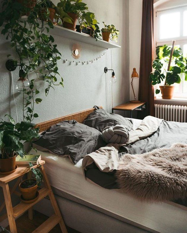 Plant Themed Bedroom