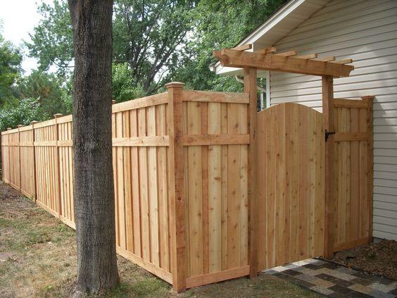 Backyard Wood Privacy Fence