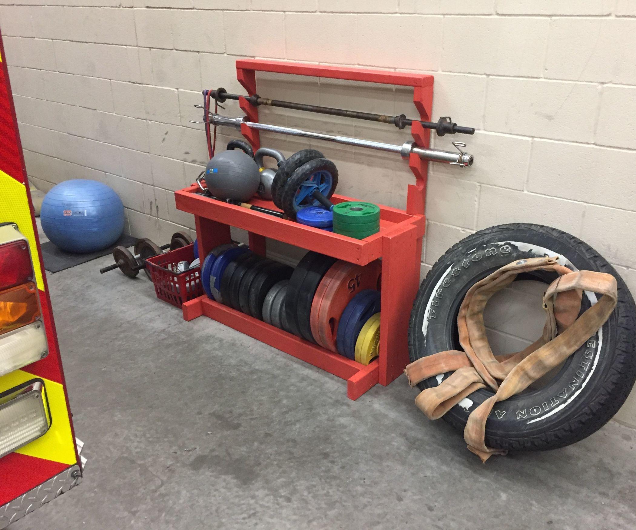 DIY Home Gym Storage