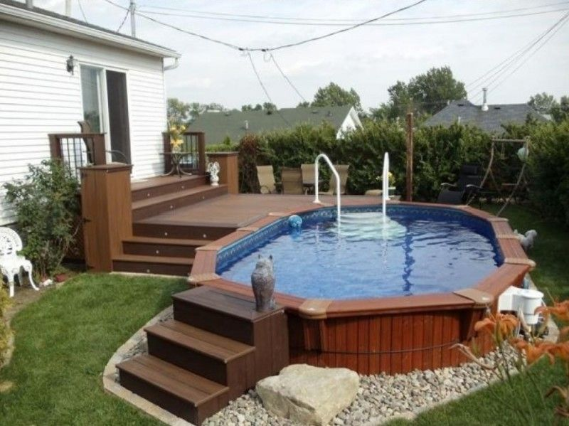 Small Backyard Above Ground Pool Decks
